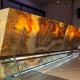 balcão em pedra ônix retroiluminada