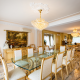 mármore na sala de jantar
